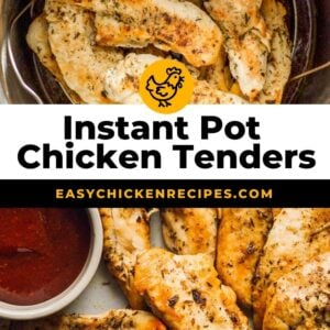 instant pot chicken tenders pinterest collage