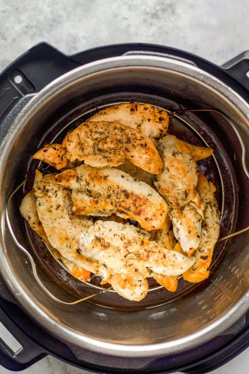 chicken tenders cooked in instant pot