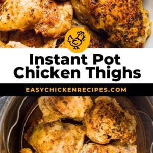 instant pot chicken thighs pinterest collage