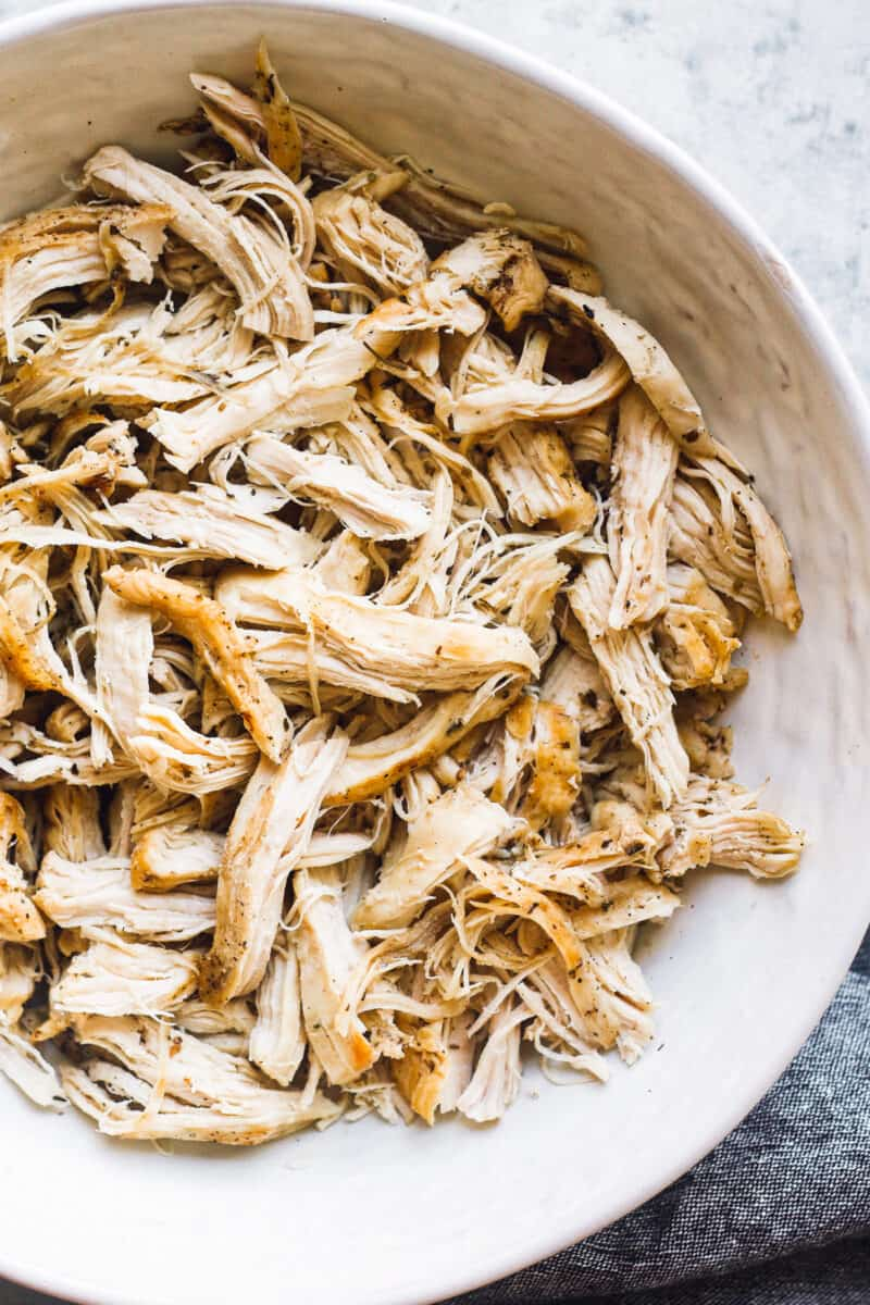shredded chicken breasts in the instant pot