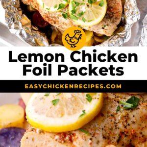 lemon chicken foil packet dinner pinterest
