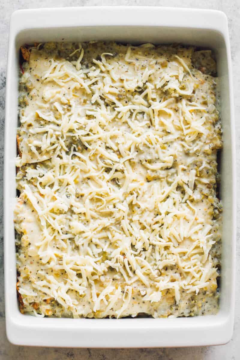 unbaked chicken casserole