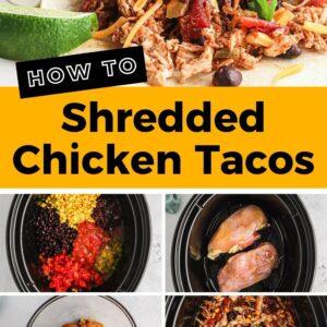 mexican shredded chicken tacos pinterest