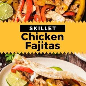 skillet chicken fajitas pinterest