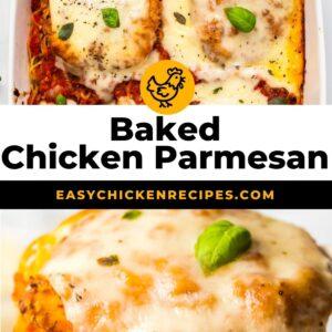 baked chicken parmesan pinterest