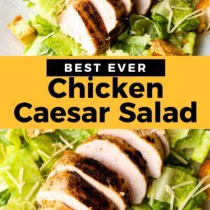 chicken caesar salad pinterest