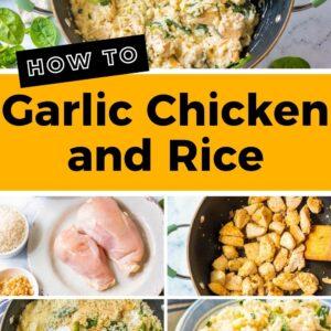 garlic chicken and rice pinterest