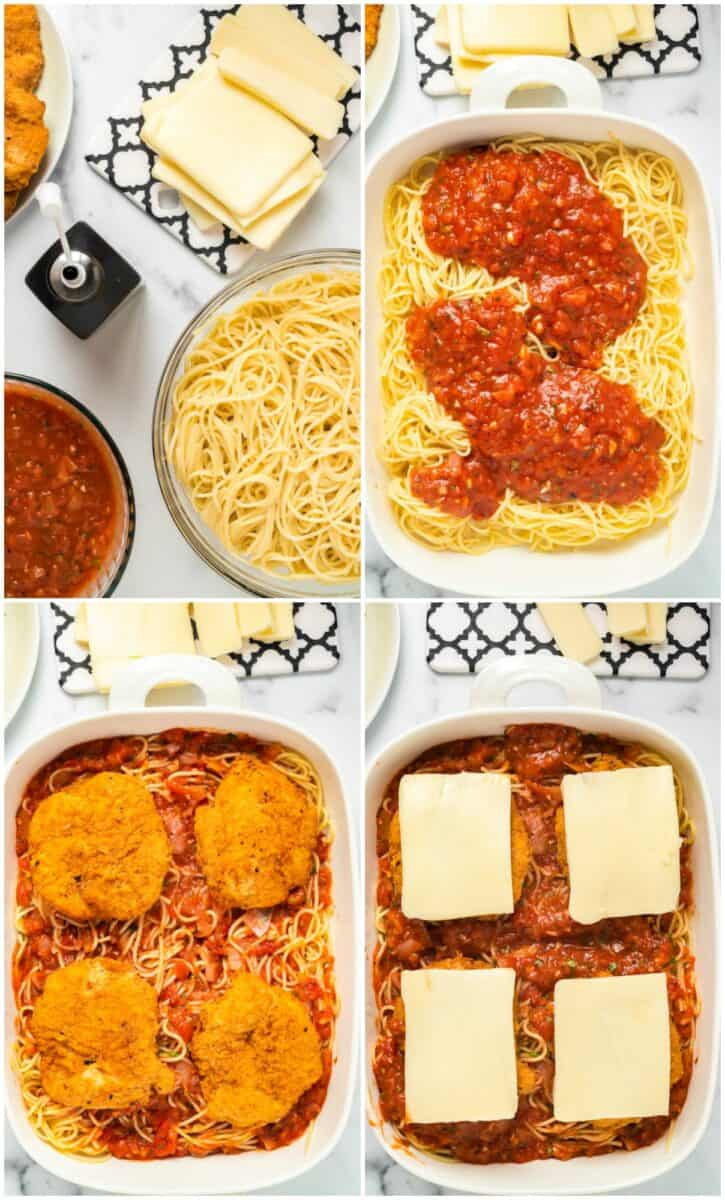 step by step photos of how to make baked chicken parmesan
