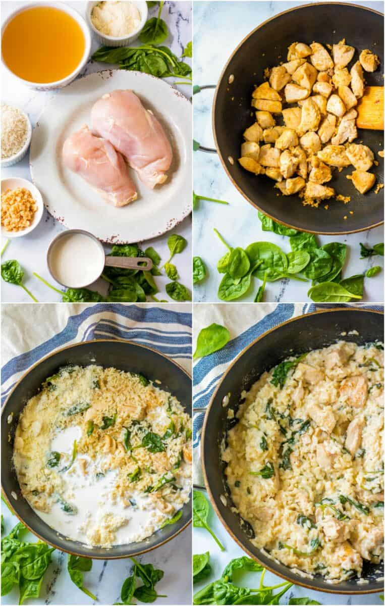 step by step photos of how to make garlic chicken and rice