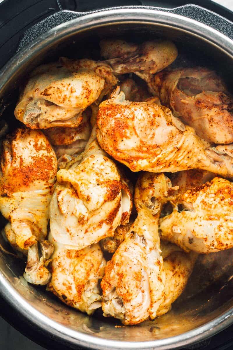spiced chicken drumsticks in instant pot