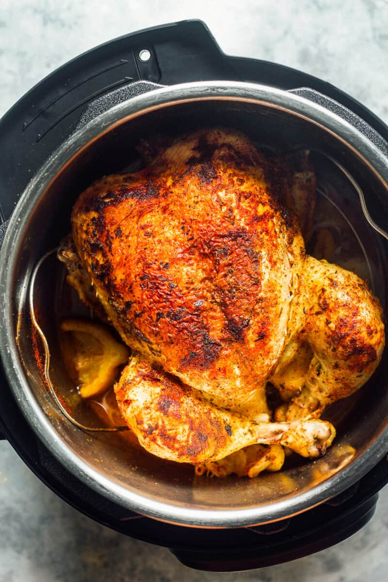 instant pot whole chicken with lemon and herbs