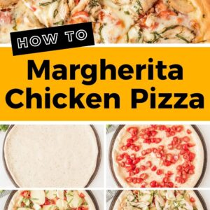 chicken margherita pizza pinterest