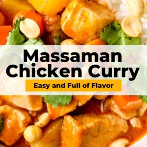 massaman chicken curry pinterest