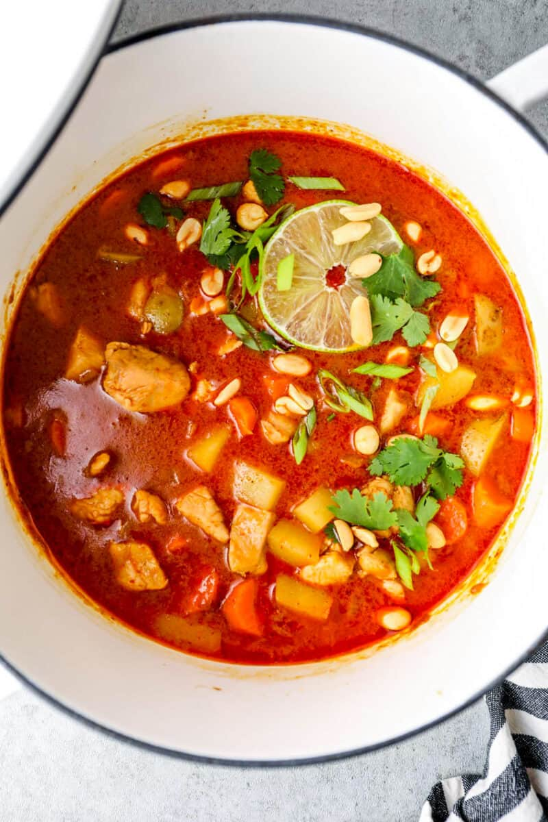massaman curry in pot