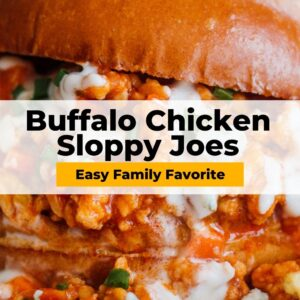 buffalo chicken sloppy joes pinterest collage