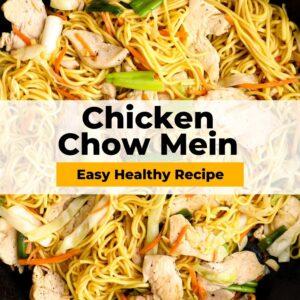 chicken chow mein pinterest collage