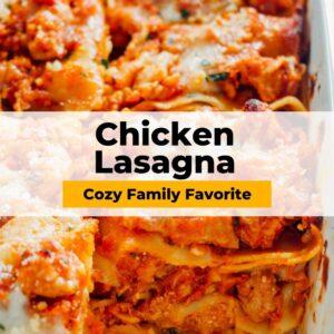 chicken lasagna pinterest collage