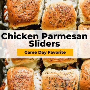chicken parmesan sliders pinterest collage