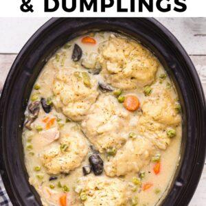 crockpot chicken and dumplings pinterest collage