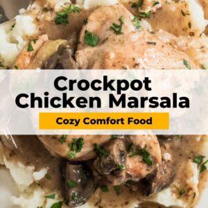 crockpot chicken marsala pinterest collage