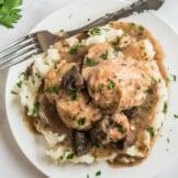 crockpot chicken marsala over mashed potatoes