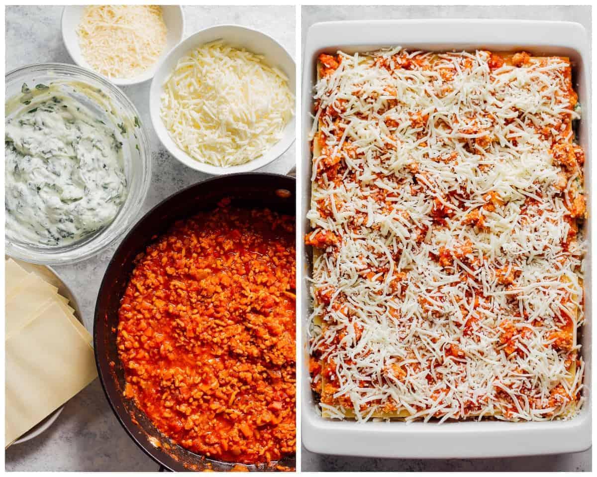 making chicken lasagna