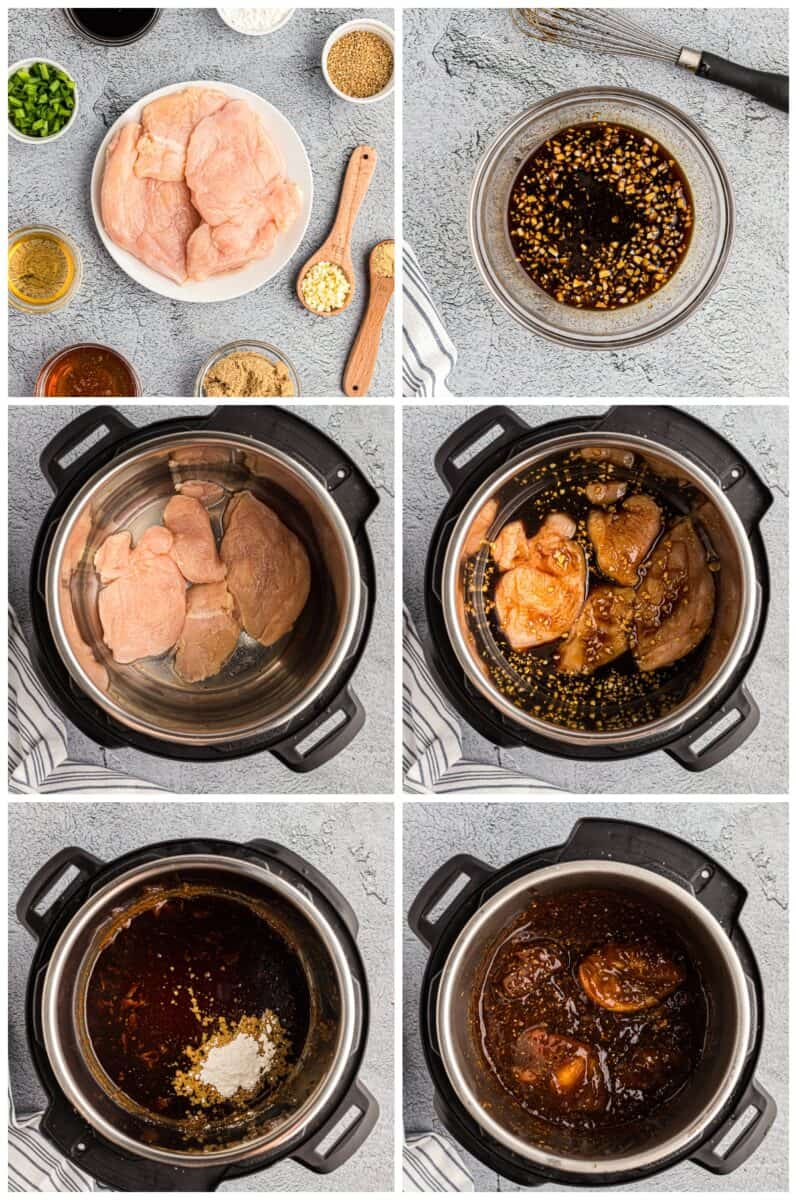 step by step photos for how to make instant pot chicken teriyaki