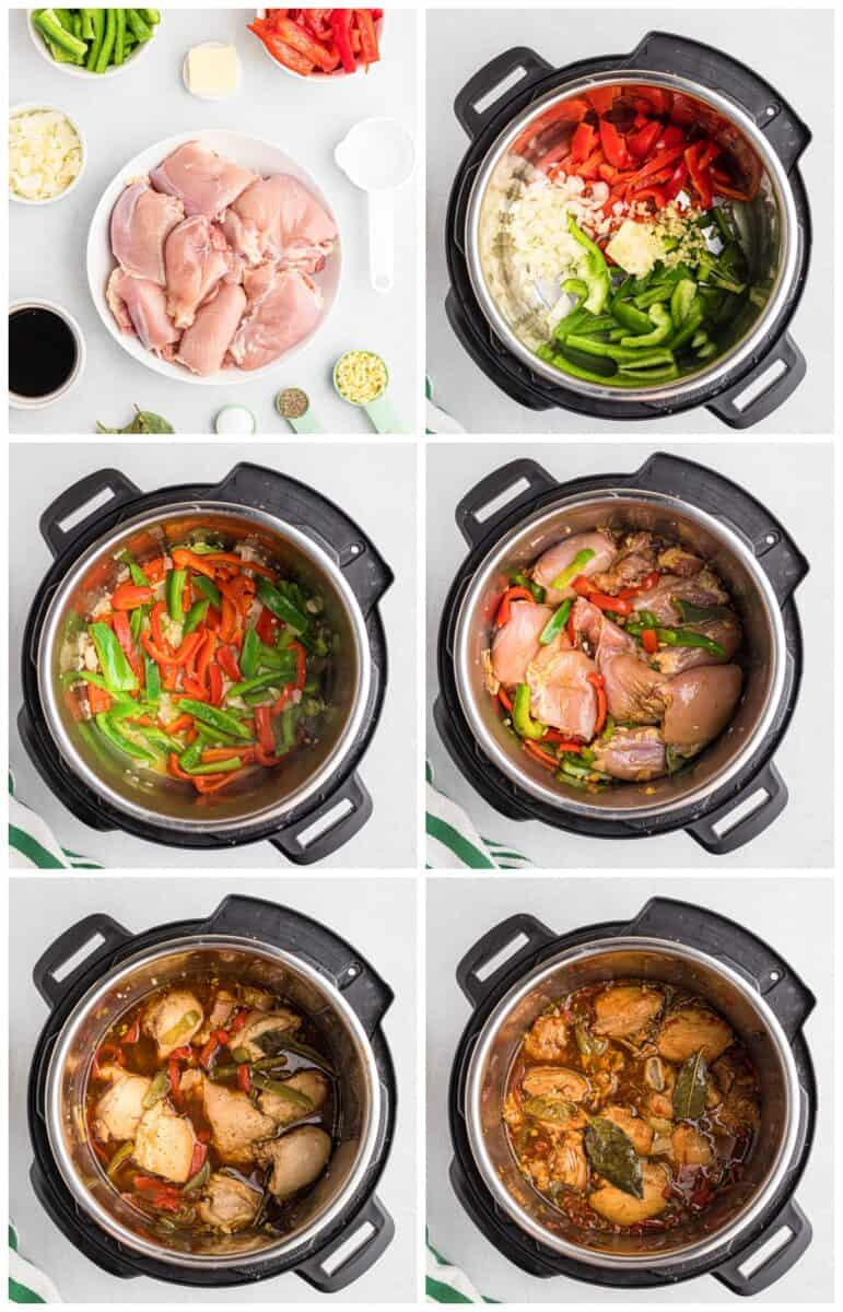 step by step photos of how to make adobo chicken