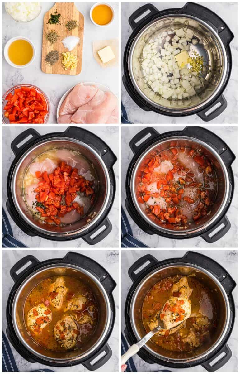 step by step photos of how to make instant pot balsamic chicken