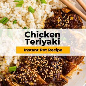 instant pot chicken teriyaki pinterest collage