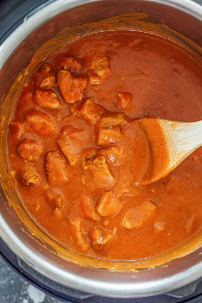 Chicken tikka masala in instant pot.