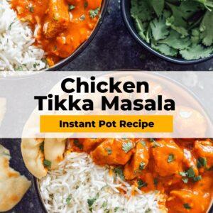 instant pot chicken tikka masala pinterest collage