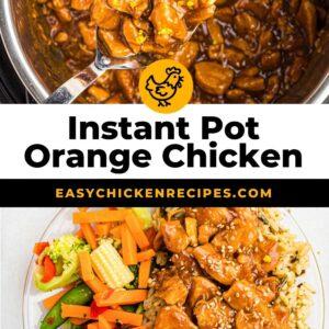 instant pot orange chicken pinterest collage