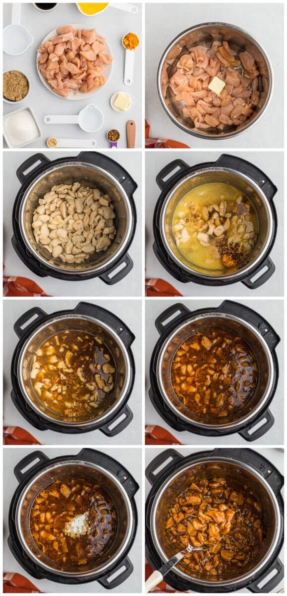 step by step photos of how to make instant pot orange chicken