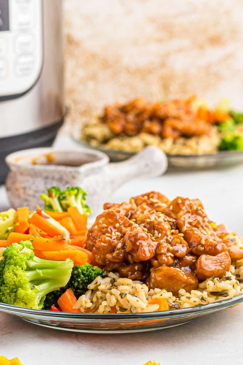 orange chicken on plate