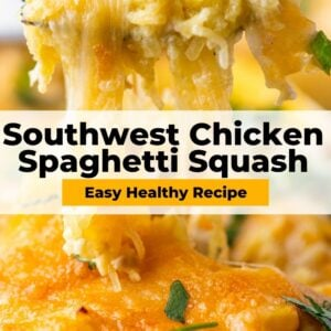 southwest chicken spaghetti squash pinterest collage