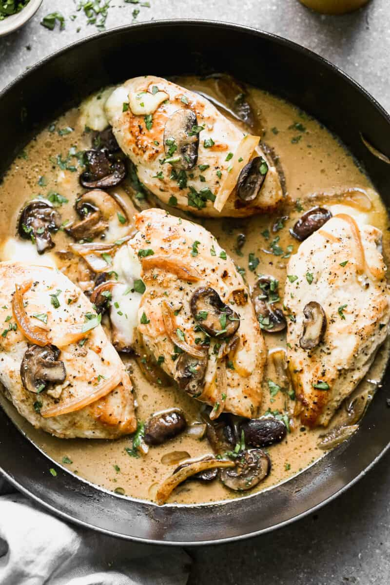 4 stuffed chicken marsala chicken breasts.