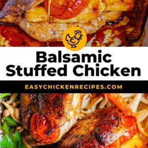 balsamic stuffed chicken pinterest collage