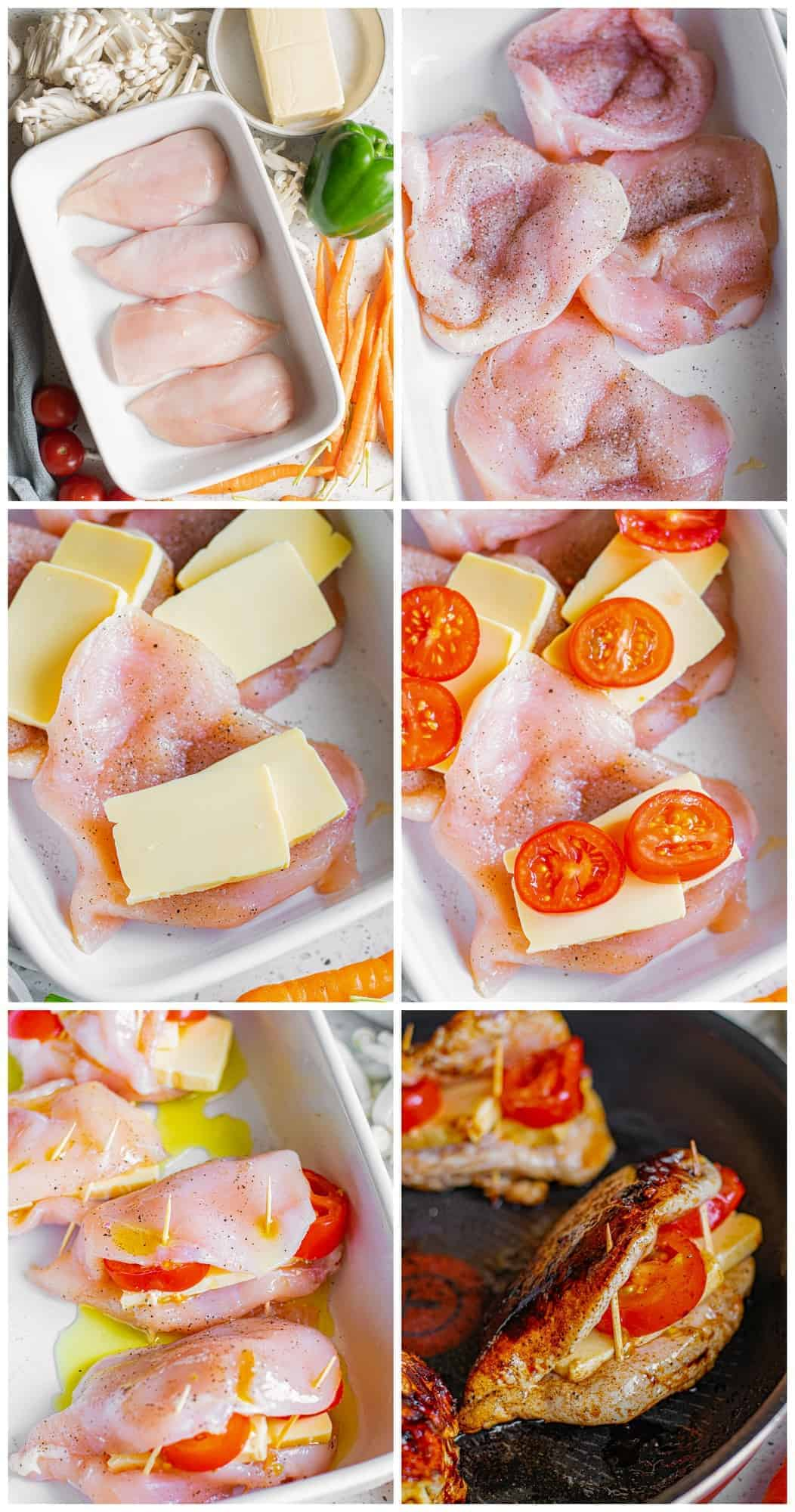 how to make balsamic stuffed chicken