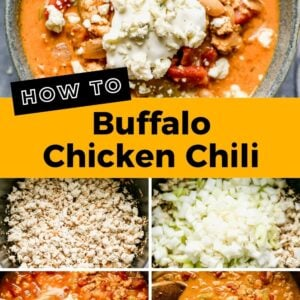 buffalo chicken chili pinterest collage