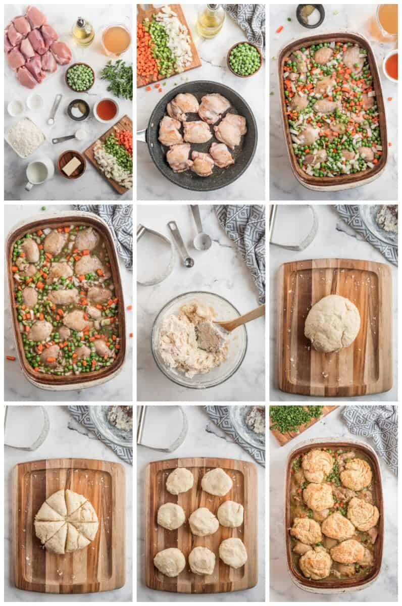 how to make chicken biscuit bake