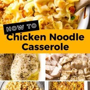 chicken noodle casserole pinterest collage