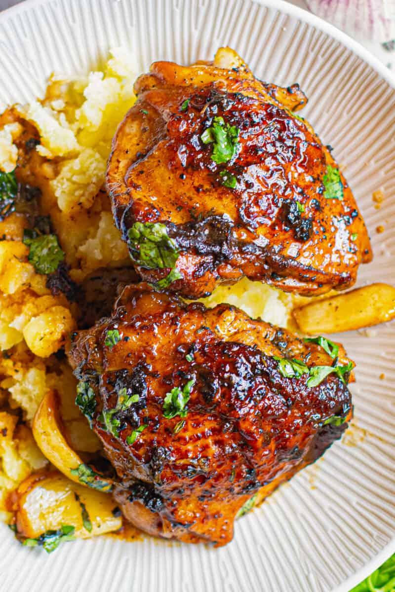 crispy beer chicken on plate