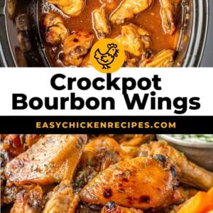 crockpot honey bourbon wings pinterest collage