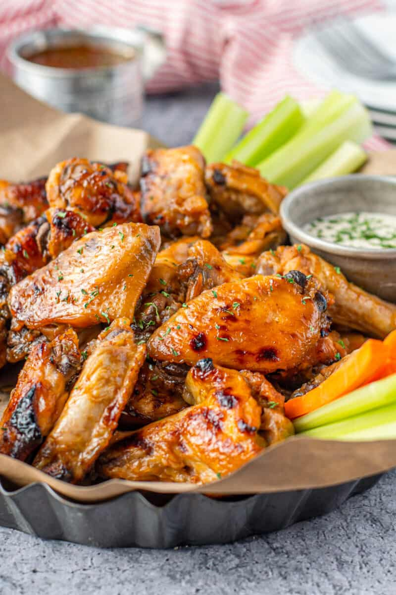 crockpot bourbon wings with ranch
