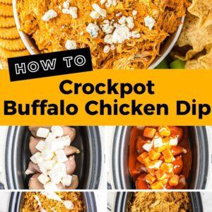 crockpot buffalo chicken dip pinterest collage