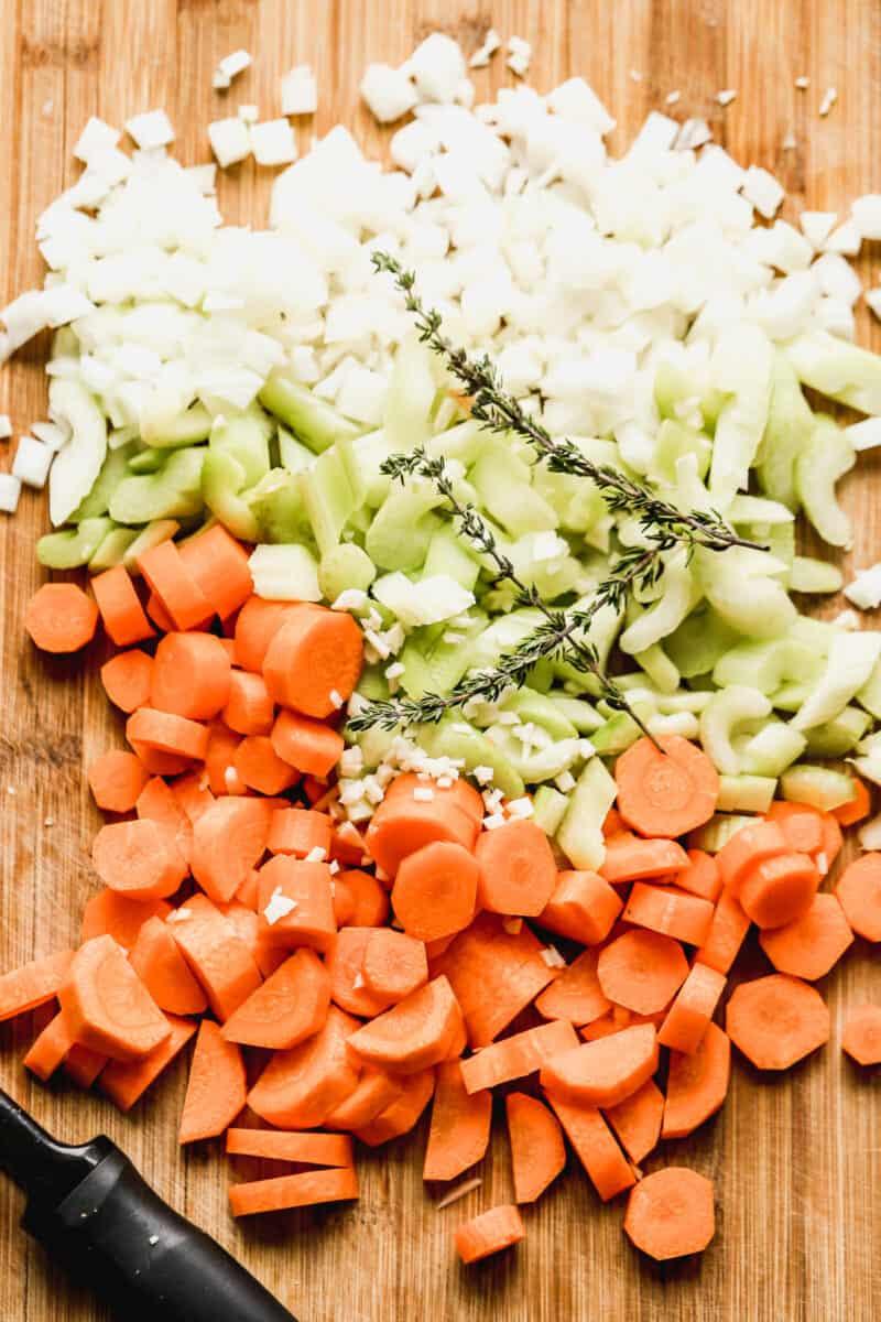 vegetables for crockpot chicken and noodles
