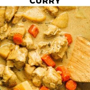 crockpot chicken curry pinterest collage