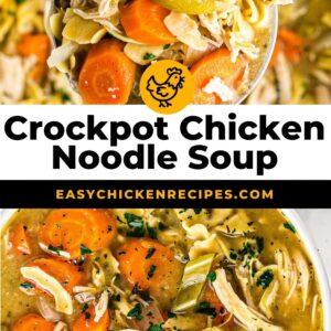 crockpot chicken noodle soup pinterest collage