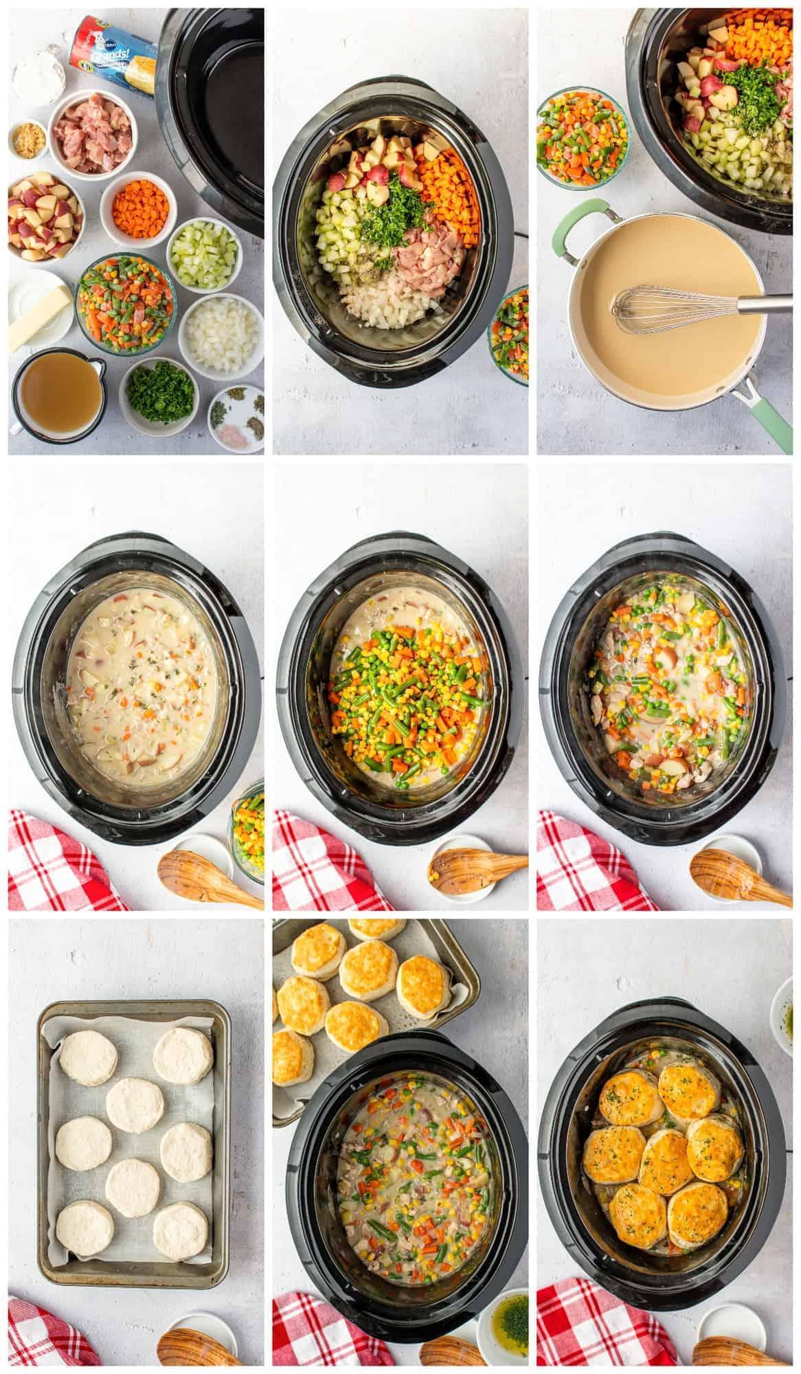 how to make crockpot chicken pot pie
